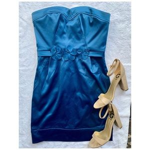 Max and Cleo Royal Blue Satin Cocktail Dress
